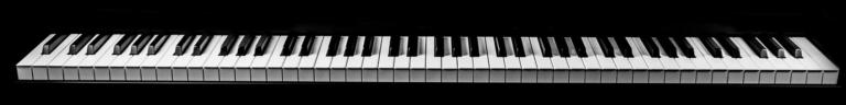Abbildung einer Pianotastatur - schwarze und weiße Tasten